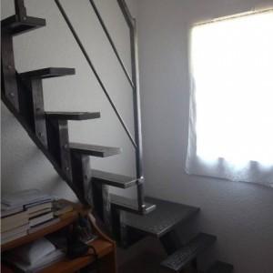 Escalier intérieur brossé quart tournant